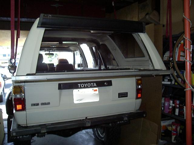 Camper shell storage yotatech forums for 1995 toyota 4runner rear window problems