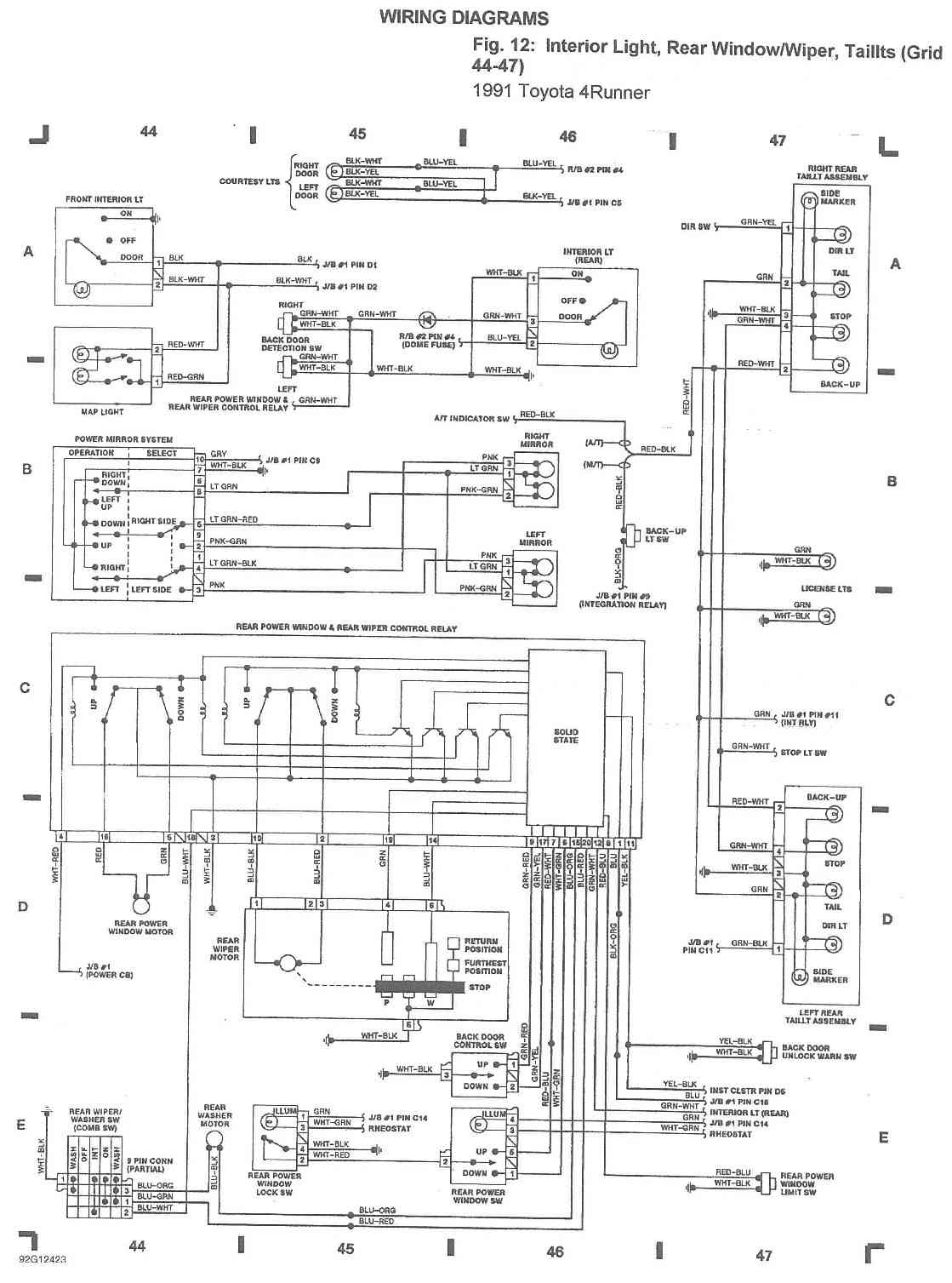 1996 4runner Wiring Diagram Real 94 Aerostar Fuse Box Ford Free Engine Toyota Spark Plug