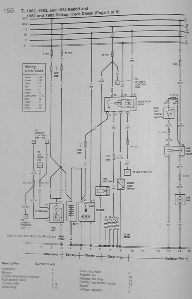 2000 Jetta Radio Wiring Diagram Vw Diesel Library Typical Glow Plug Circuit